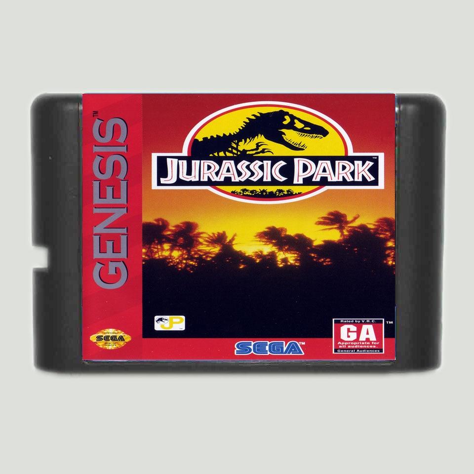 Jurassic Park 16 bit MD Game Card For Sega Mega Drive For GenesisJurassic Park 16 bit MD Game Card For Sega Mega Drive For Genesis