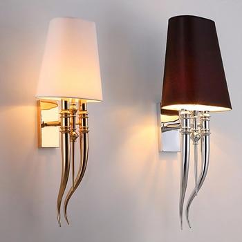 Lámpara de pared led creativa hoteles lámparas de pared de hierro modernas  comedor dormitorio doble cabeza AC85-265V accesorios de luz Sconce