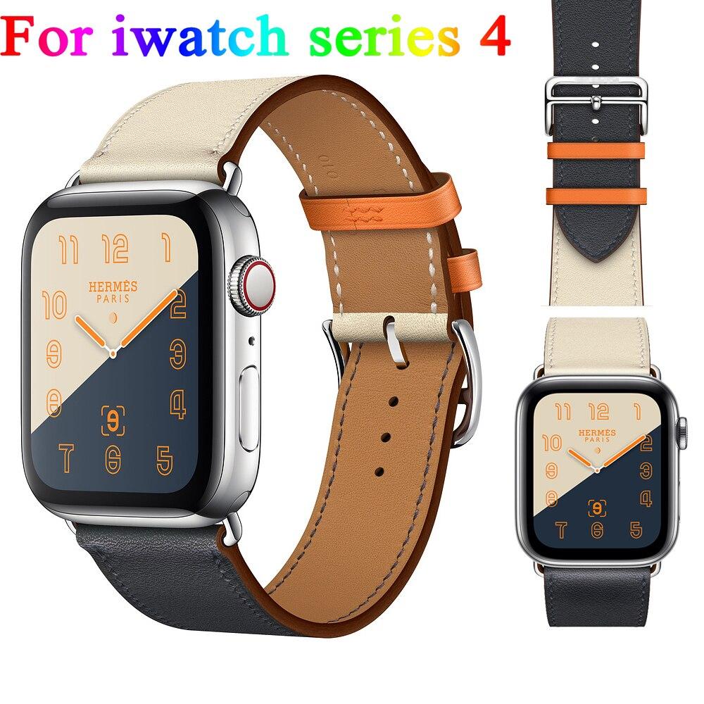 LNOP fascia della cinghia di Cuoio per apple watch 4 40mm 44mm singolo tour braccialetto cinturino iwatch serie 4 di ricambio Braccialetti della cinghia