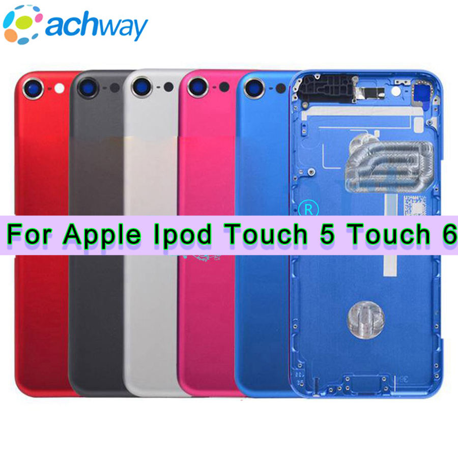 """4.0"""" For ipod Touch 6 Housing Back Battery Cover Case Touch5 Door Rear Panel Replacement For ipod Touch 5 Case Housing(China)"""