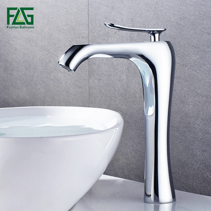 FLG Bathroom Single Handle Basin Faucet Sink Faucet Chrome Deck Mounted Cold And Hot Bathroom Wash Basin Faucet Tap copper toilet wash basin faucet hot and cold bathroom sink basin faucet mixer water tap single hole basin faucet chrome plated