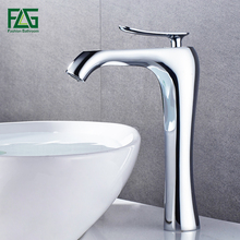 Фотография FLG Bathroom Single Handle Basin Faucet Sink Faucet Chrome Deck Mounted Cold And Hot  Bathroom Wash Basin Faucet Tap