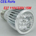 Wholesale - Super Bright 15W Led E27 Bulbs Light 110-240V Dimmable Led Spotlights Warm White/Cool White 30/45/60 Angle
