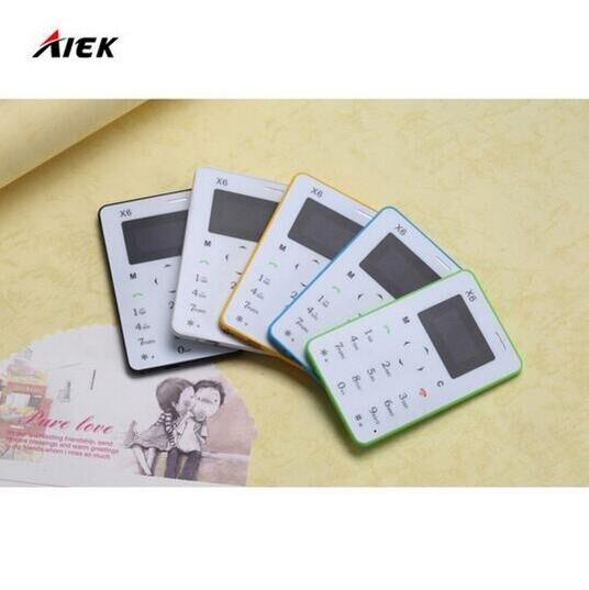 10Pcs lot Ultra Thin AIEK AEKU X6 Mini Cell Card Phone Student Unlocked Mini Mobile Phone