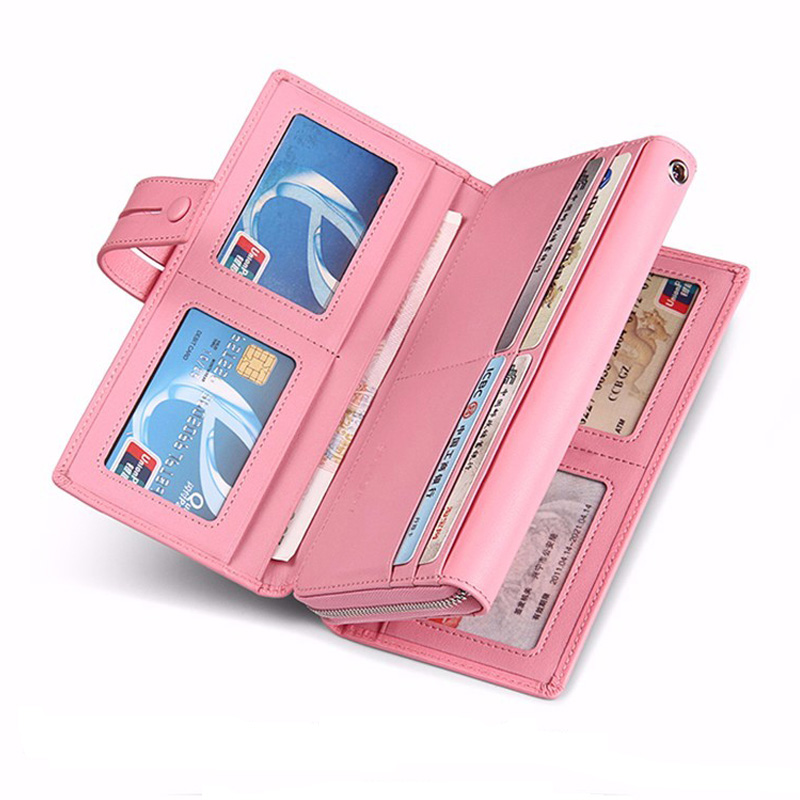 SENDEFN Jenama Tulen Wanita Lembu Kulit Wallet Long Lady Purse Clutch - Dompet - Foto 2