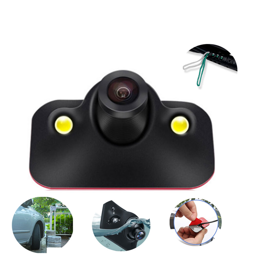 BYNCG Mini CCD Coms HD Night Vision 360 Degree Car Rear View Camera Front Camera Front View Side Reversing Backup Camera