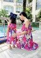 Мать дочь платье чешские соответствующие семья мама дочь на пляже платье соответствия наряды семья комплект мама дочь платье без бретелек