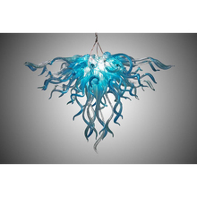 лучшая цена Hot Sale Murano Blown Glass Chandelier Dale Chihuly Art New Style Light Home Made Chandelier