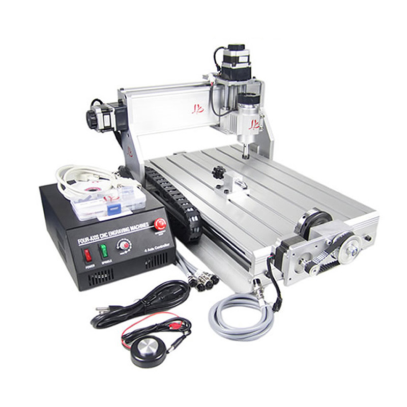 CNC 3040Z-DQ 4 Axis CNC machinery with 4th rotary axis for 3D printing 300 aaron printing doctor blade for printing machinery w30 40mmxt0 2mmxl100m