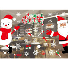 Window Glass PVC Wall Sticker Christmas DIY Snow Town Wall Stickers Home Decal Christmas Decoration for Home Supplies
