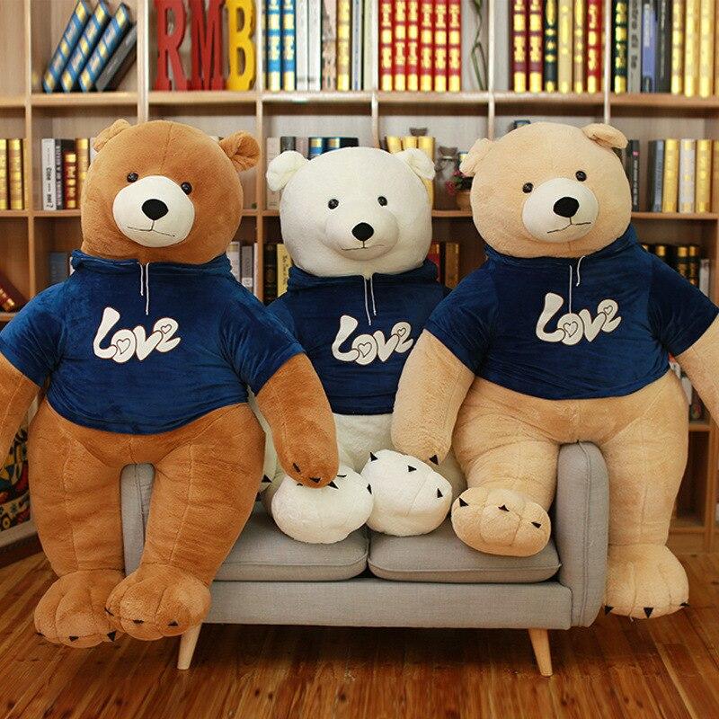 1 PC mignon gros ours en peluche jouets en peluche animaux en peluche ours polaire poupées doux enfants jouets