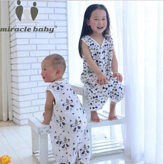 معجزة طفل القطن الشاش طفل كيس النوم طبقة واحدة الاطفال ملابس خاصة الصيف الرضع Sleepsacks حجم S ، M ، L ل 0-3 سنوات
