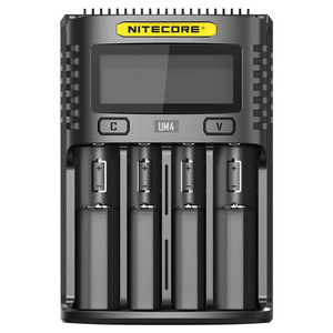 Image 3 - 100% الأصلي NITECOR UM4 C4 VC4 LCD USB شاحن بطاريات ذكي ل ليثيوم أيون IMR INR ICR LiFePO4 18650 14500 26650 AA 3.7 1.2V 1.5V