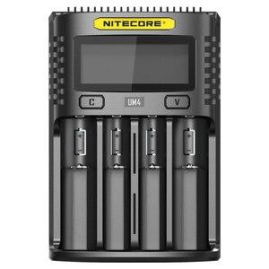 Image 3 - NITECOR cargador de batería inteligente UM4 C4 VC4, LCD, USB, Original, para LiFePO4, 18650, 14500, AA, 26650, 3,7, 1,2 V, 1,5 V