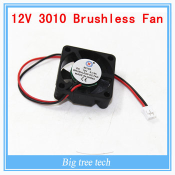 High quality 3010s 30MM 30 x 30 x 10MM 12V 2Pin DC Cooler Small Cooling Fan FOR 3D PRINTER PART  with free shipping