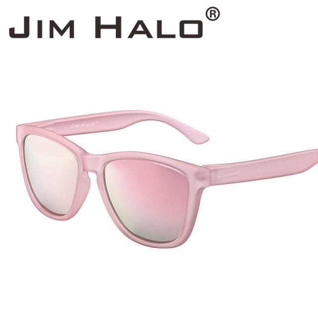 7b489999b3 Jim Halo Square Polarized Rubber Coating Frame Reflective Mirrored Lens  Sunglasses Men Women Eyewear Retro Vintage Sun Glasses-in Sunglasses from  Apparel ...