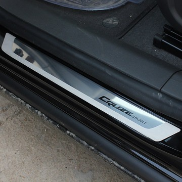 Stainless Steel Slim Door Scuff Sill Plates Cover stickers font b car b font stying FOR