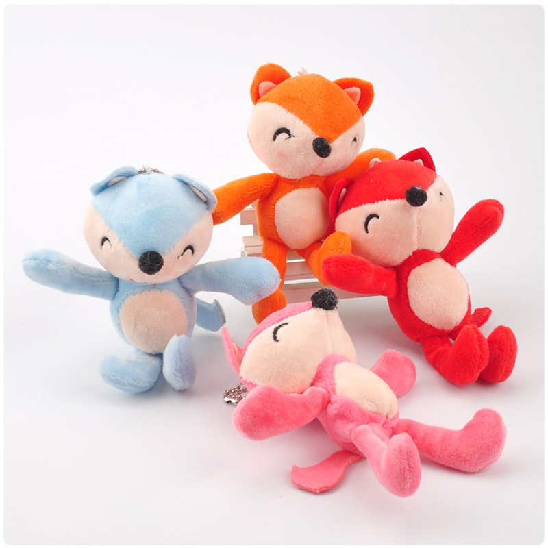 15CM Small Fox Plush Pendant Cartoon Filled Cute Fox Backpack Pendant Decorative Plush Toy Girl Birthday Christmas Doll Gift in Stuffed Plush Animals from Toys Hobbies