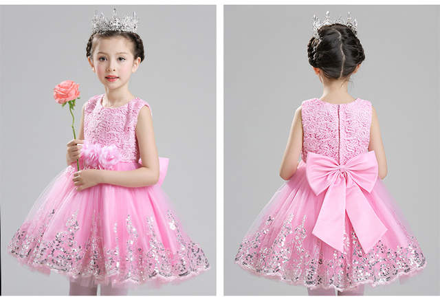 9ccbc7931bef Online Shop High Quality sequin Pink baby girls 1 year old birthday ...