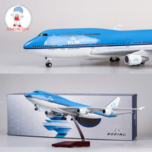 47CM 1/157 Scale Airplane Neitherland Airliner Model 747 Boeing B747 KLM Royal Blue White Dutch Airline Collectible High Quality цены