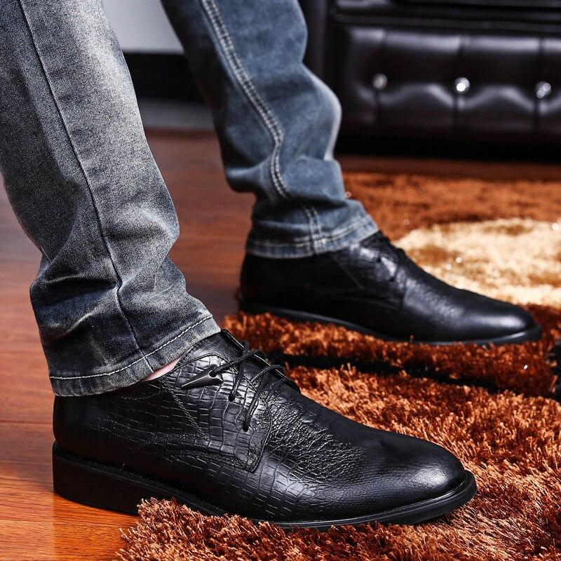 Business da vacchetta marrone eleganti di scuro coccodrillo Business Forme Oxford Marrone in Scarpe di nera nero pelle uomo caffè xPSwqWA5Y