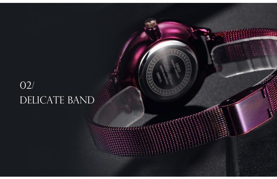 IBSO Brand Women Fashion Watch 2018 Mesh Strap Watch Female Watch 12