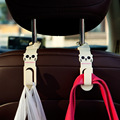 2pcs Car Back Seat Hooks Headrest Hanger Cartoon Hook Holder  For Bag Purse Grocer