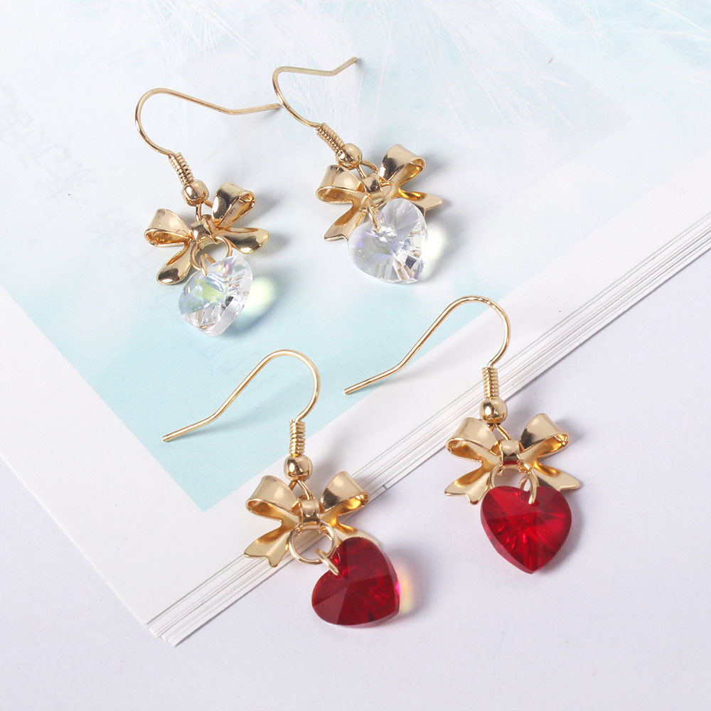 Girls heart three-dimensional butterfly crystal glass s
