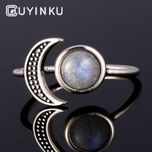 GUYINKU Romantic Moon Sun Shape Rings 925 Sterling Silver Natural Moonstone Rings For Women Wedding Gift Fine Jewelry Adjustable oxygen sensor for oxygen concentrator test monitor oxygen purity o2 generator parts