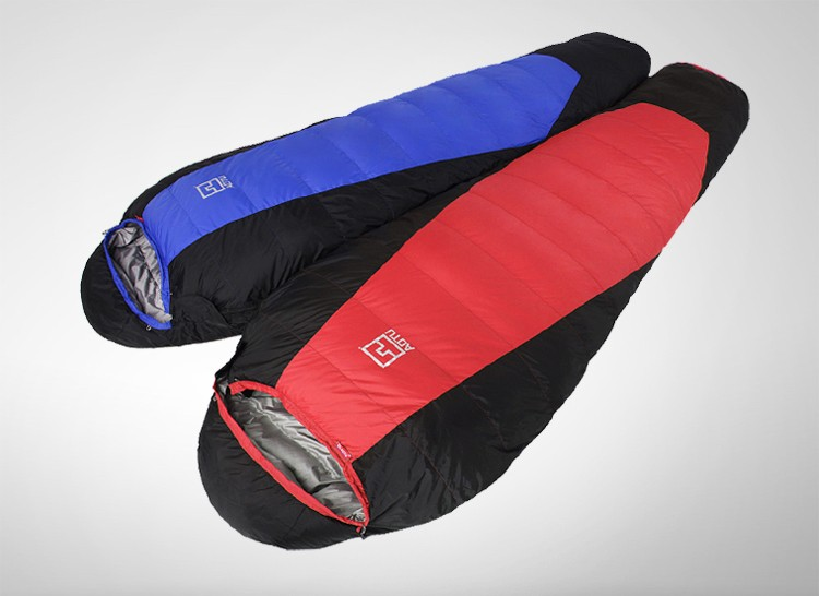 Aotu brand Fill 1800G duck down outdoor camping Adult mummy travel Waterproof extreme cold weather sleeping bag