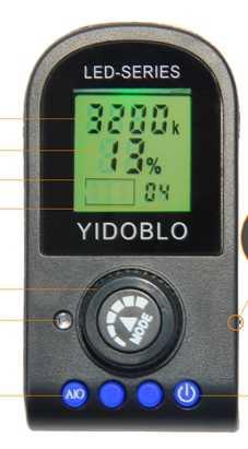 Yidoblo FE-480II Bi-cor Preta Foto Iluminação de Estúdio de Luz Do Anel LEVOU Lâmpada De Luz de Vídeo RC LCD 96 w 5500 k 480LED Luzes CD50