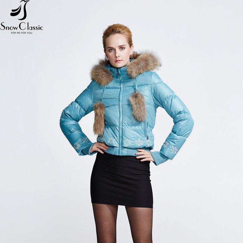 Снежно класическо зимно яке за жени - Дамски дрехи - Снимка 4