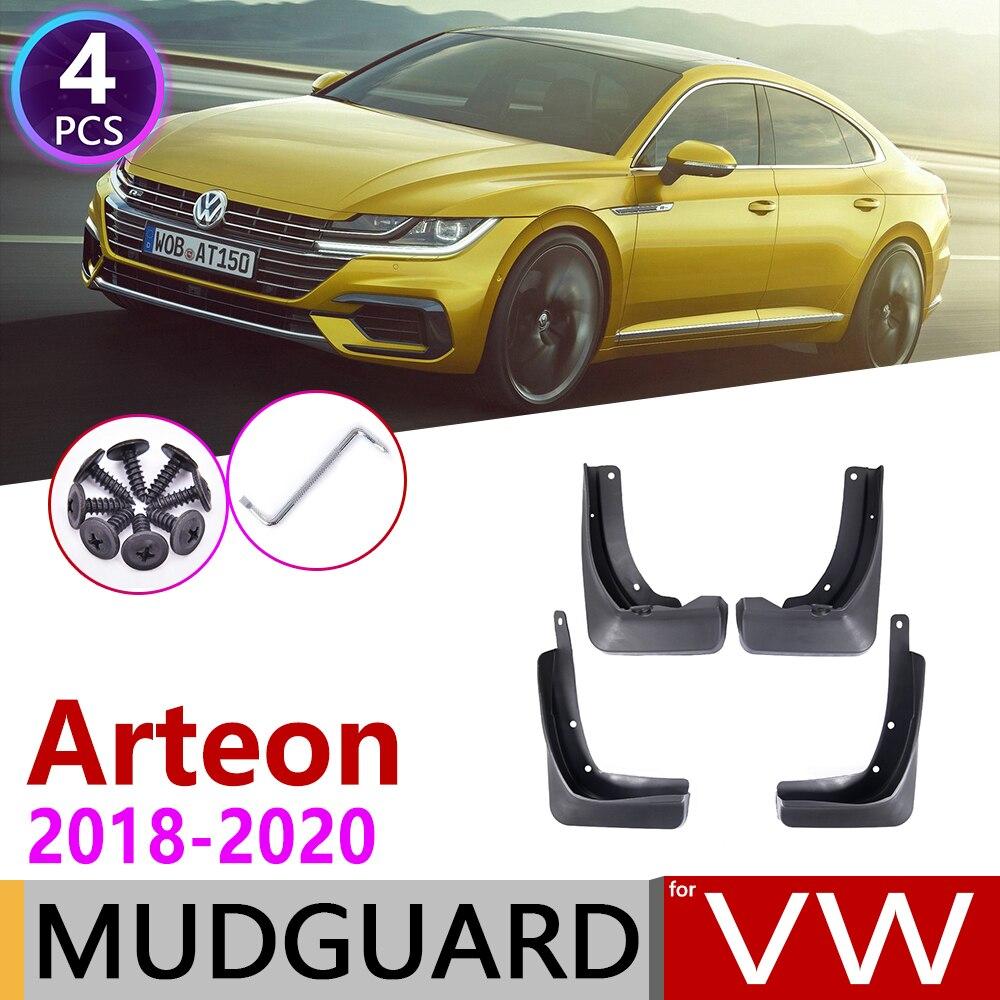 4 PCS For Volkswagen VW Arteon 2018 2019 2020 Front Rear Car Mudflap Fender Mud Flaps Guard Splash Flap Mudguards Accessories