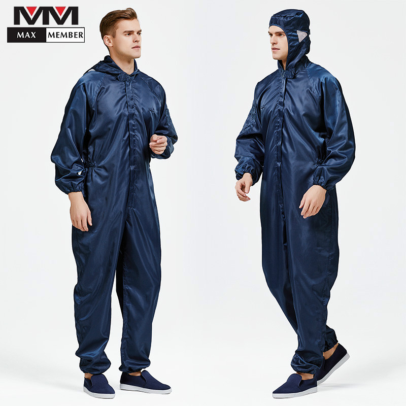 High Quality Anti-static Jumpsuit Summer Dust-free Workshop Uniforms Men's Food Factory Dust Laboratory Protective Clothing