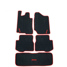 Rubber Car Floor Mats+Boot Mats for Suzuki Jimny Custom No Odor Trunk Carpets Waterproof for suzuki sx4 2010 2013 car floor mats carpets auto floor mats waterproof dustproof styling interior decoration protection