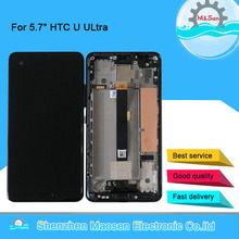 """5.7 """"الأصلي M & Sen ل HTC U الترا شاشة LCD عرض محول رقمي يعمل باللمس الإطار ل HTC U الترا شاشة الكريستال السائل"""