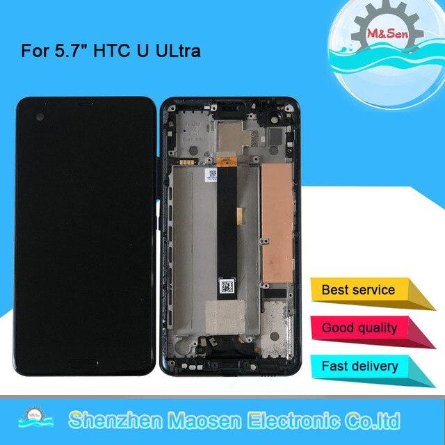 """5.7 """"Originele M & Sen Voor Htc U Ultra Lcd scherm + Touch Panel Digitizer Frame Voor Htc U Ultra Lcd Display"""