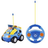 Cartoon Police Car Radio Control Toy For Toddlers By Liberty Imports Kids Race Car Model Toy