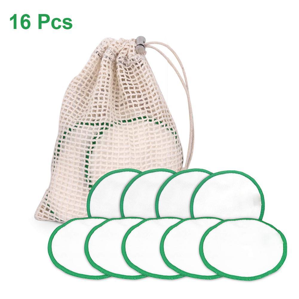 16 pçs set Reutilizáveis Almofadas de Algodão