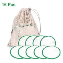 16Pcs/lot Reusable Cotton Pads Make Up Facial Remover Double Layer Wipe Cleaning Washable With Laundry Bag