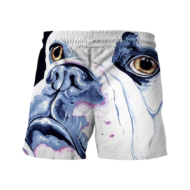 2018 brand Animal Dog 3D Printed   Board     Shorts   Man's Summer Creativity   Short   Pants Boys European Size quick dry Beach men   Shorts