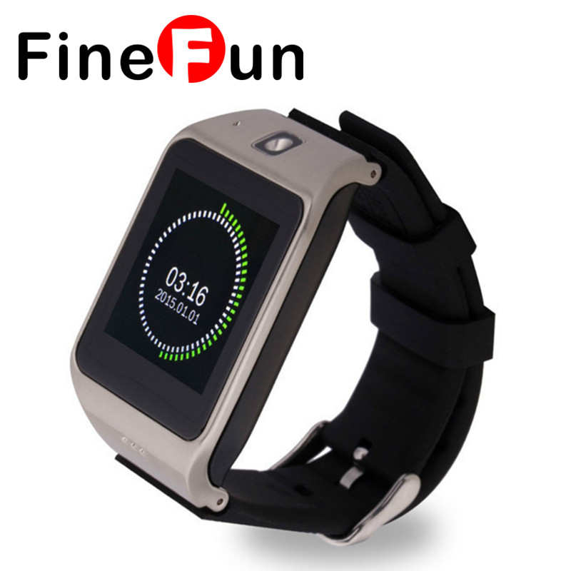 FineFun UW1 Intelligent Bluetooth Watch Phone 1.55 inch TFT Touch Screen Single SIM card MP3 MP4 Player Smart Mobile For Android