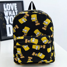 Bart simpson schoolbag preppy satchel teenagers boys backpacks printing school canvas