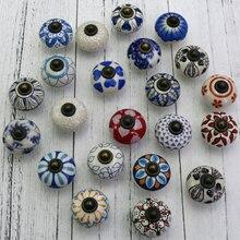 10PCS Kids Children Novelty Wardrobe Cabinet Cupboard Flower Handles Knobs Ceramic Dresser Drawer pulls Jewelry box knobs