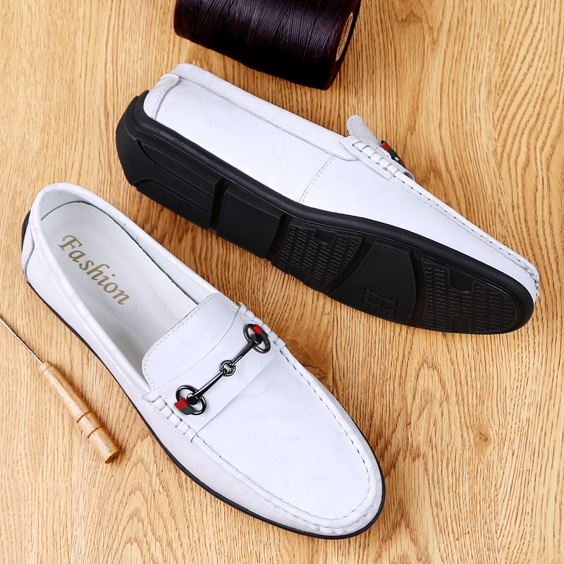 High Top Quality Genuine Leather Loafers Soft Business Men Casual Shoes British Style Flats Driving