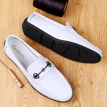 High Top Quality Genuine Leather Loafers Soft Business Men Casual Shoes British Style Flats Driving Shoes Handmade Casual Shoes mvvjke folk style flat shoes women retro handmade shoes sandals fish shoes genuine leather soft flats casual driving shoe