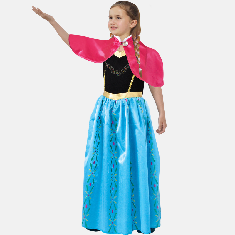 Free shipping girl suit Halloween ELSA ice queen Princess Aisha Princess Dress Children dress costumes