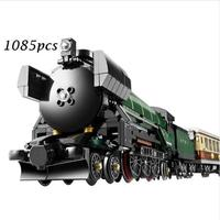 21005 Technic Series Emerald Night Train Model Building Kits Block Bricks Toys for Children gift Compatible with lego 10194