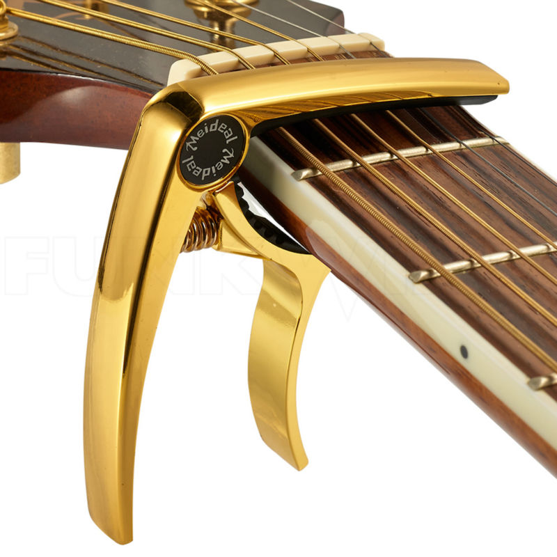 все цены на Acoustic Electric Guitar Capo 6 Guitar Strings Capos Ukulele Alloy Steel Spring 5 Colors MC10