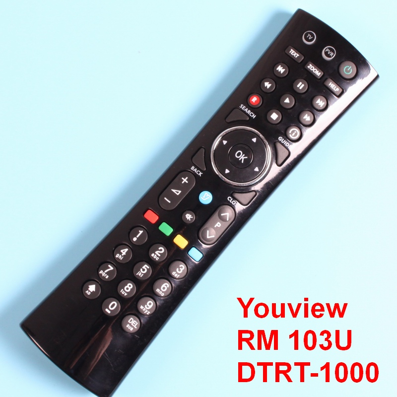 Youview Remote Control For HUMAX DTR-T1000, HUMAX DTR-T1010, HUMAX DTR-T2000, Directly use, RM-103u With TV universal mode. chunghop rm l7 multifunctional learning remote control silver
